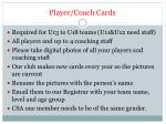 player coach cards