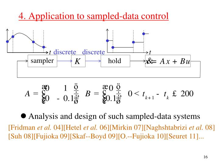 4. Application to sampled-data control