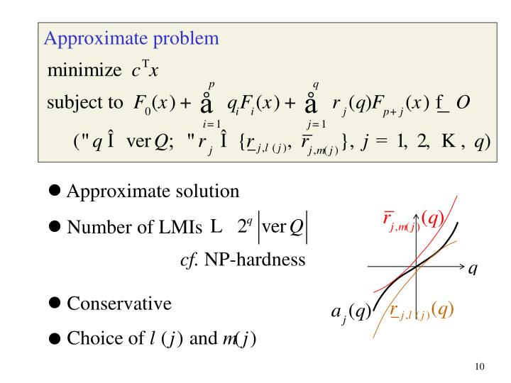 Approximate problem