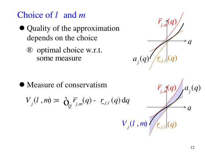 Quality of the approximation