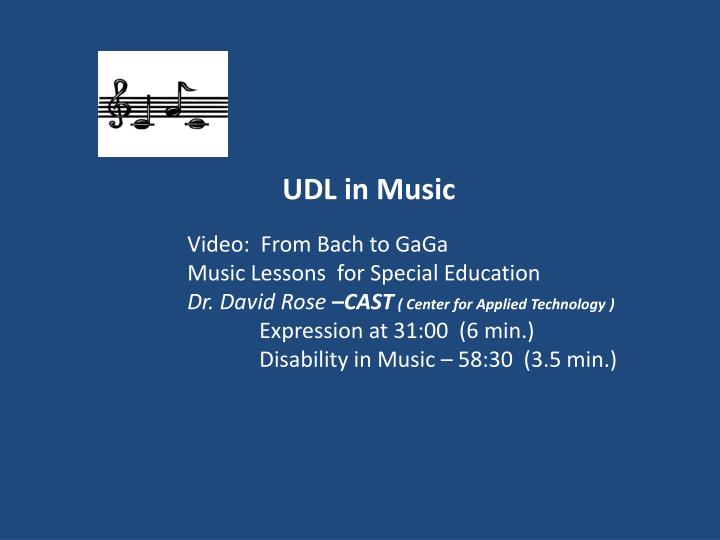 UDL in Music