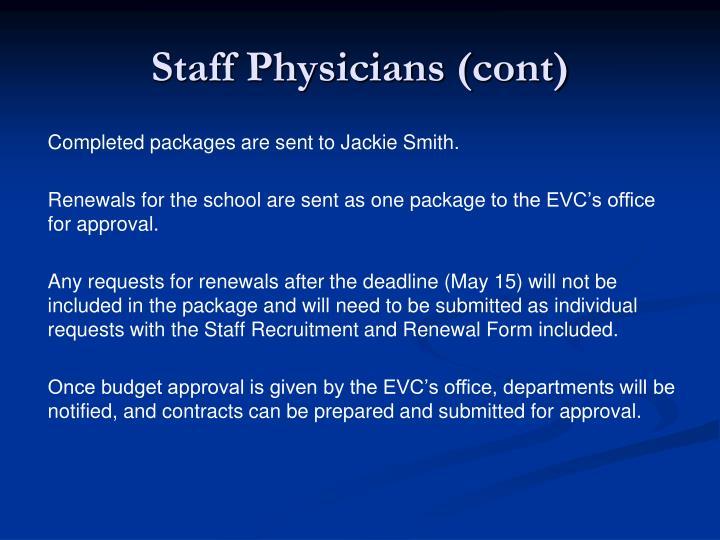Staff Physicians (