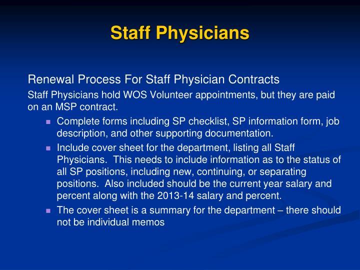 Staff Physicians