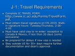 j 1 travel requirements