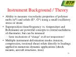 instrument background theory