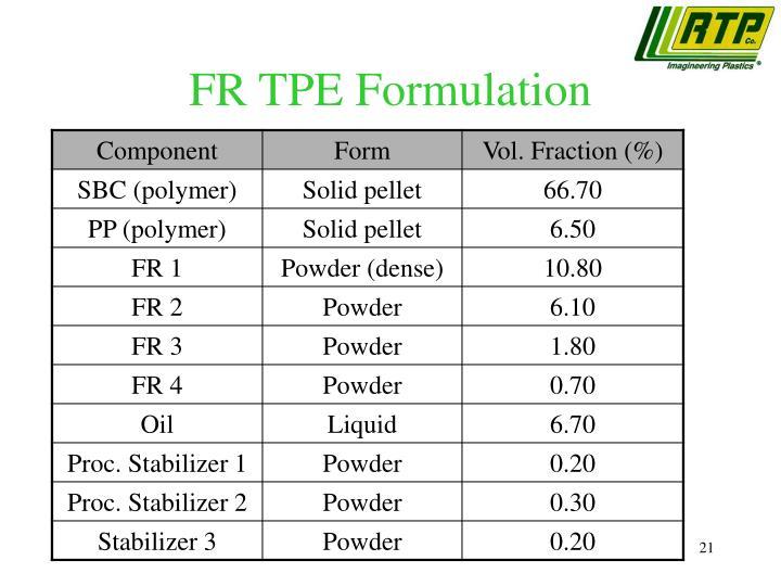 FR TPE Formulation