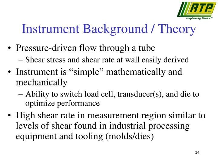 Instrument Background / Theory