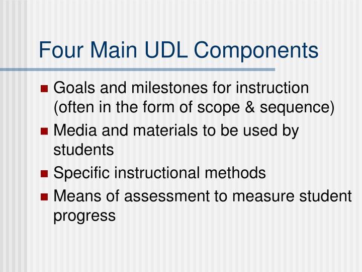 Four Main UDL Components