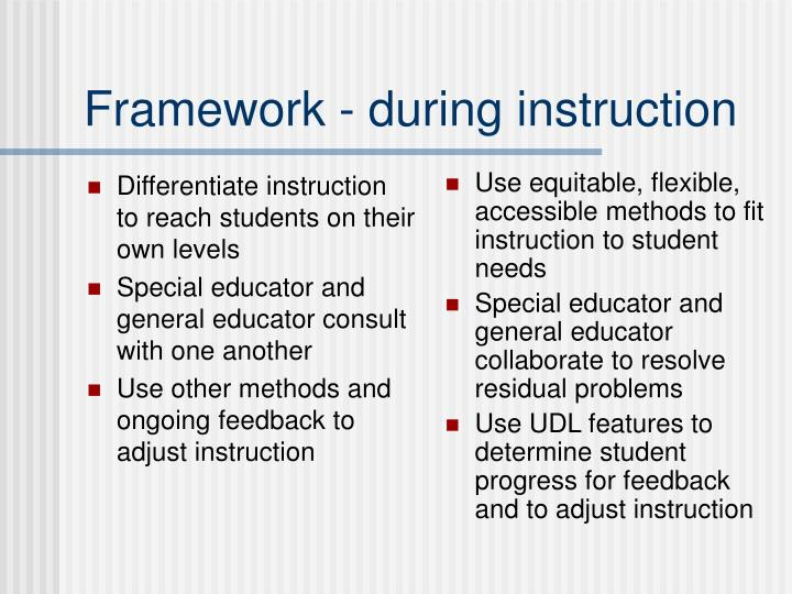 Differentiate instruction to reach students on their own levels