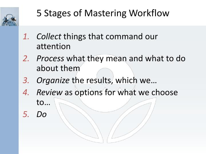 5 Stages of Mastering Workflow