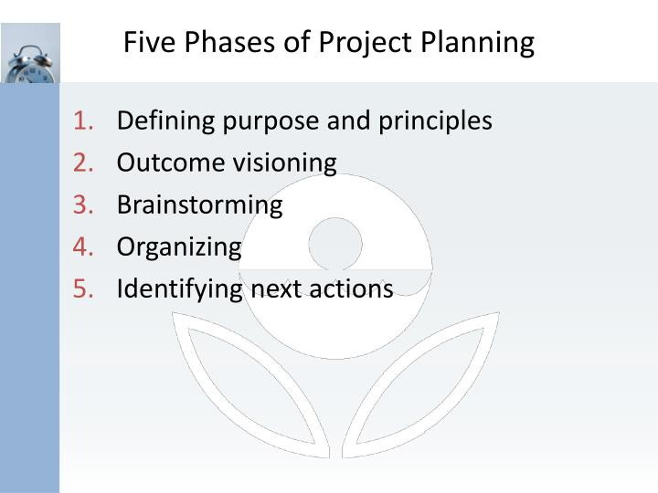 Five Phases of Project Planning