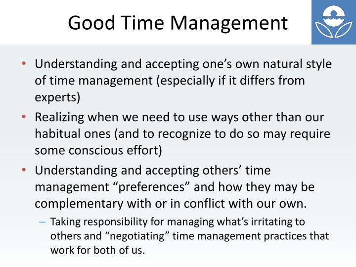 Good Time Management