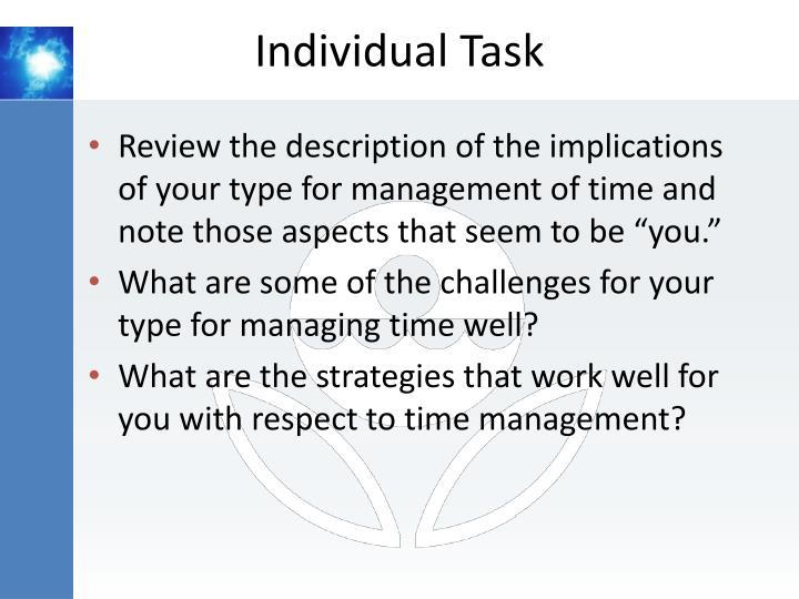 Individual Task