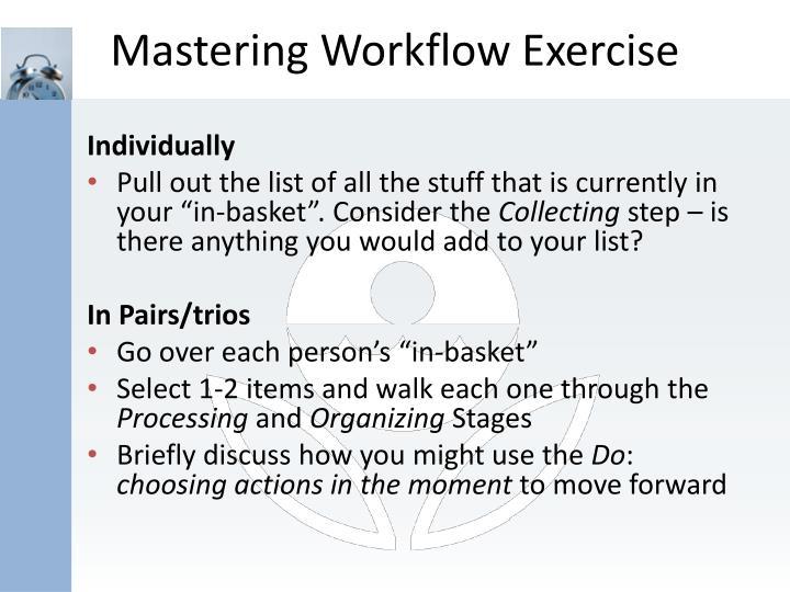 Mastering Workflow Exercise
