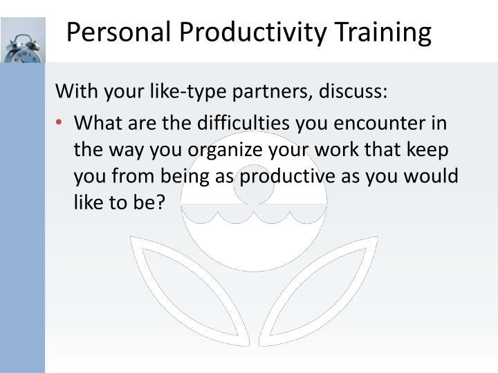 Personal Productivity Training