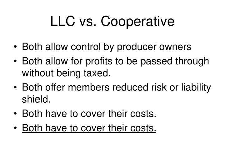 LLC vs. Cooperative