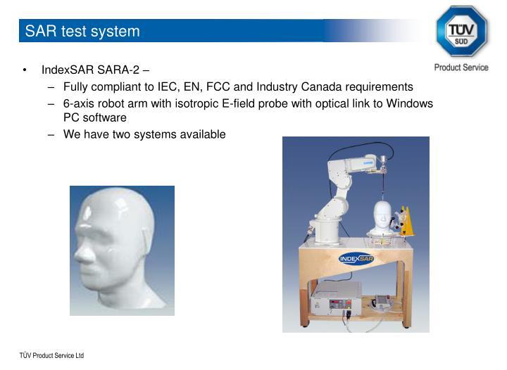 SAR test system