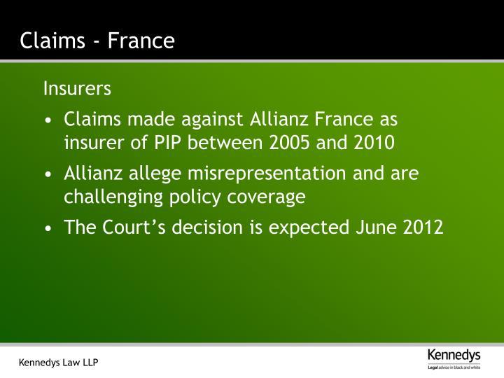 Claims - France