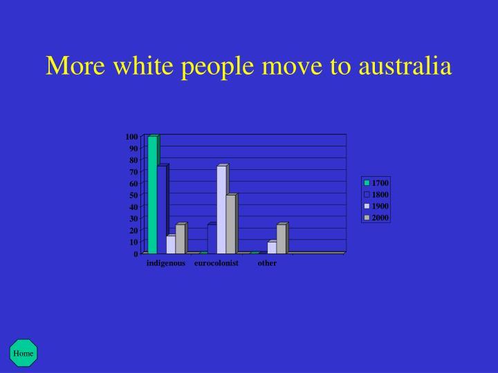More white people move to australia
