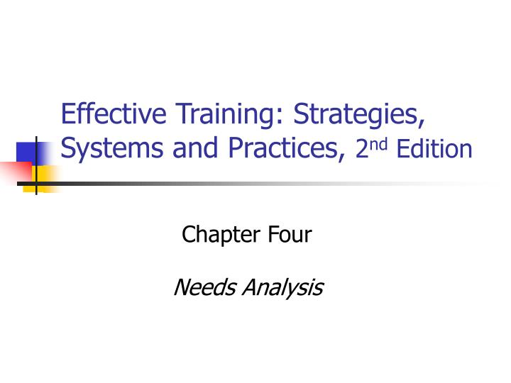 Effective Training: Strategies, Systems and Practices,
