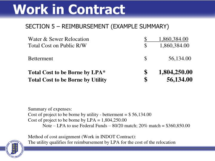 Work in Contract