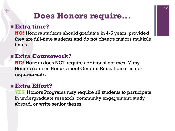 Does Honors require...