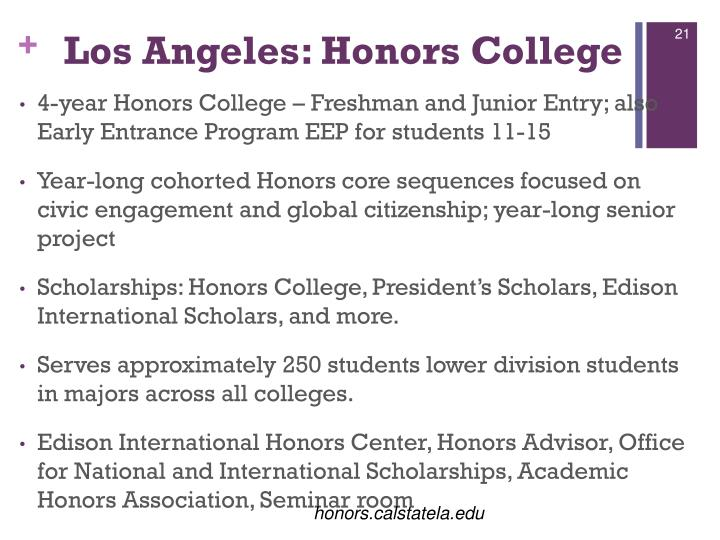 Los Angeles: Honors College