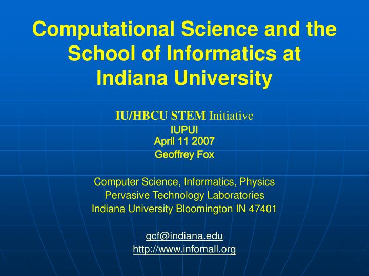 Computational Science and the