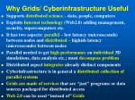 why grids cyberinfrastructure useful