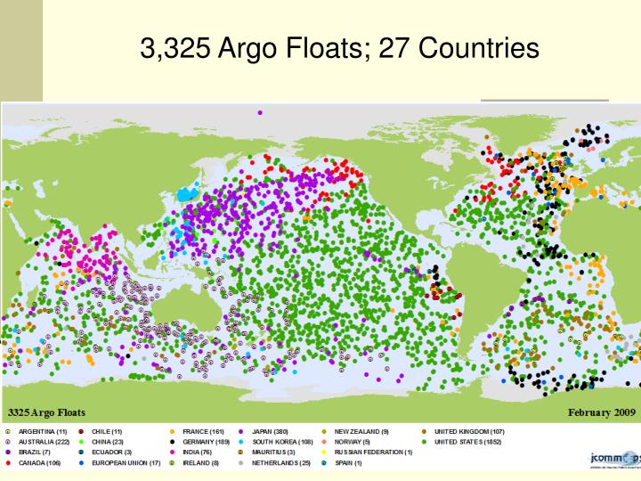 3,325 Argo Floats; 27 Countries