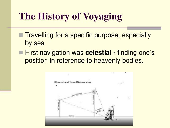 The history of voyaging