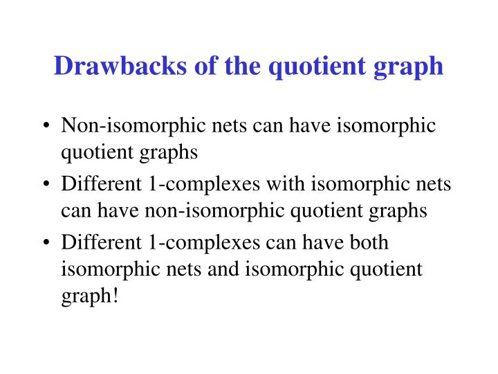 Drawbacks of the quotient graph