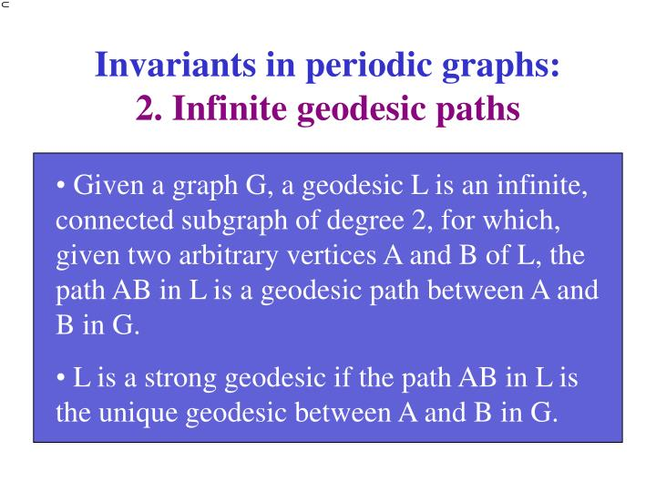 Invariants in periodic graphs: