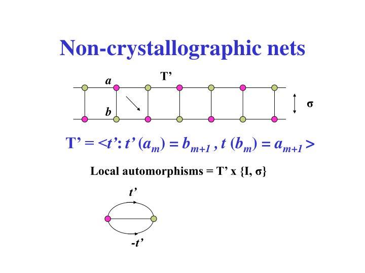 Non-crystallographic nets