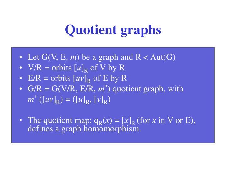 Quotient graphs