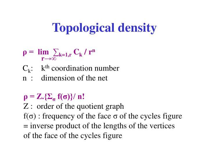 Topological density