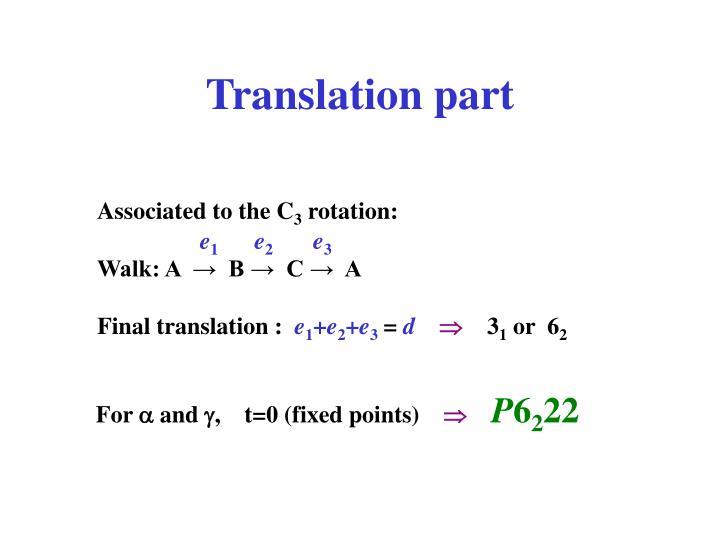 Translation part