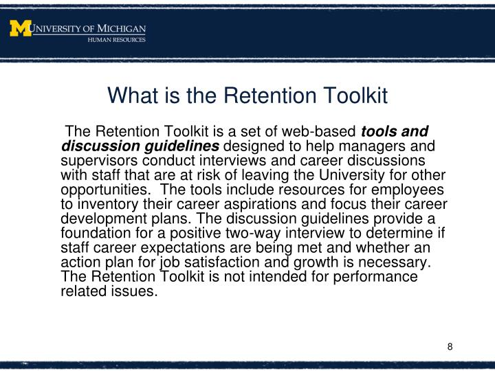 What is the Retention Toolkit
