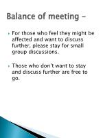 balance of meeting