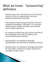 what we know outsourcing definition