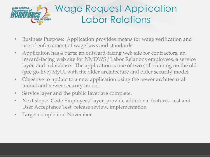 Wage Request Application
