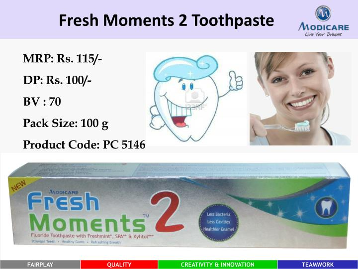 Fresh Moments 2 Toothpaste