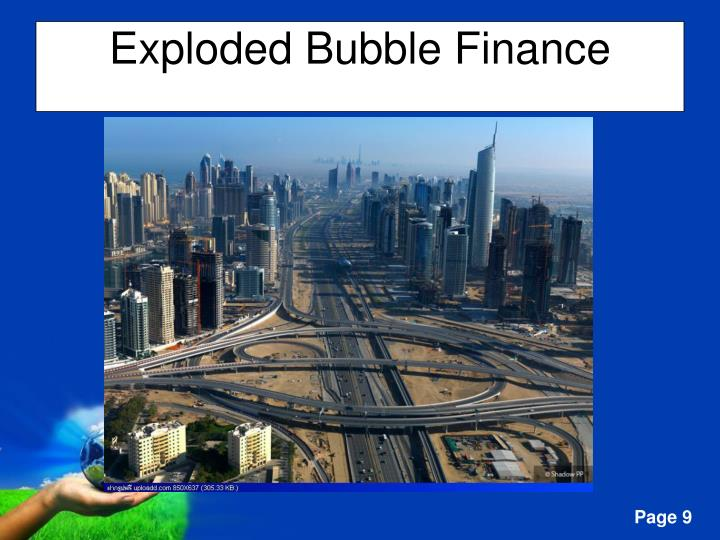 Exploded Bubble Finance