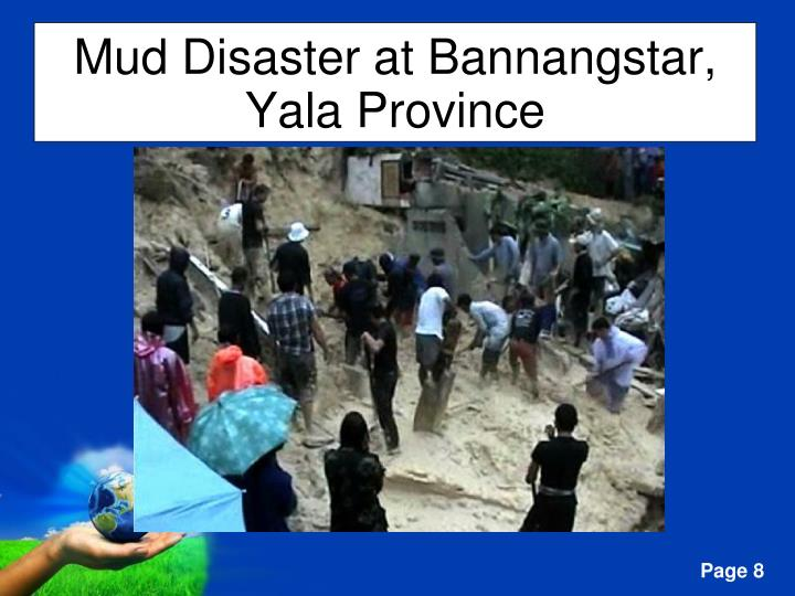 Mud Disaster at Bannangstar, Yala Province