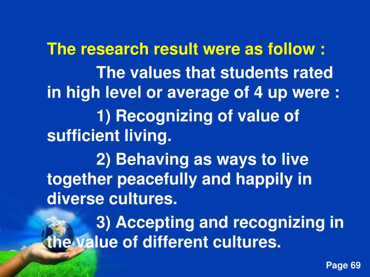 The research result were as follow :