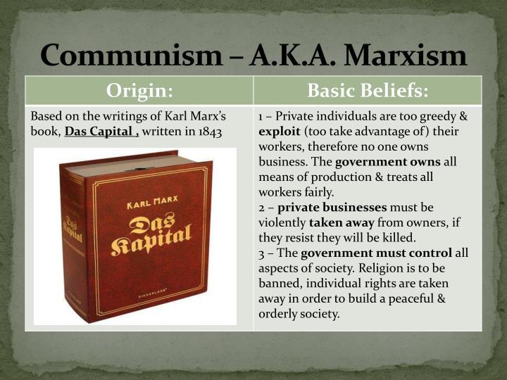 Communism – A.K.A. Marxism