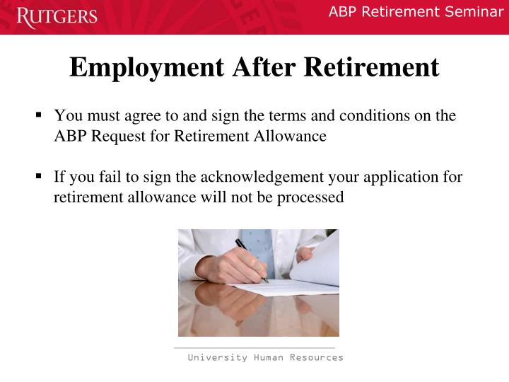 Employment After Retirement
