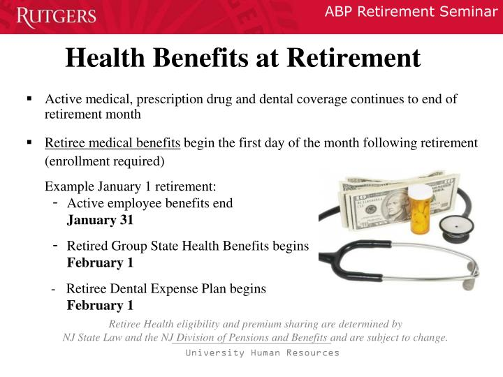 Health Benefits at Retirement