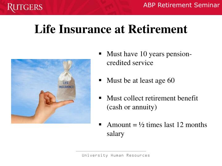 Life Insurance at Retirement