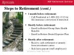 steps to retirement cont